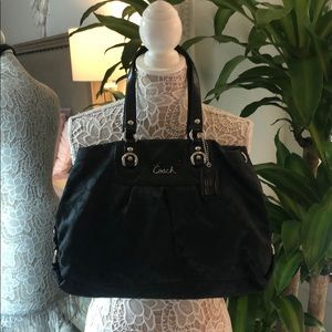 Matching Black Coach Purse and Wallet